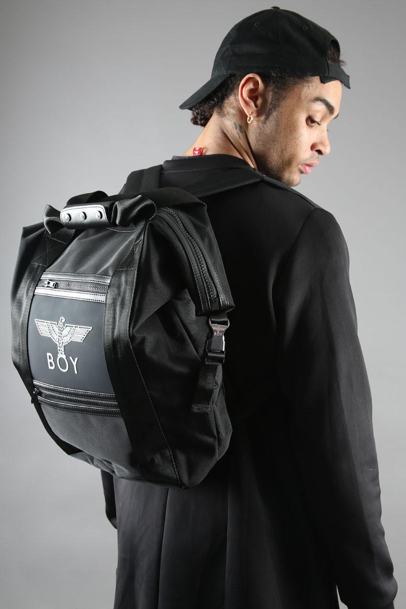 BOY LONDON Boy Carry Bag 黑色双肩背包